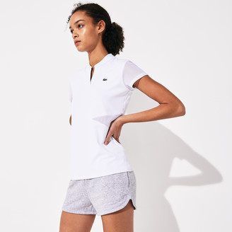 Lacoste Women's SPORT V-Neck Breathable Tennis Polo