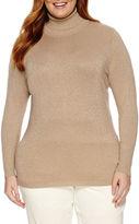 WORTHINGTON Worthington Long Sleeve Turtleneck Sweater - Plus