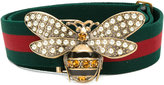 Gucci Web belt with bee - women - Cotton - 85