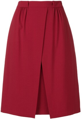 Emporio Armani off centre split skirt