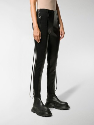 Burberry Zip-Detail Stretch Crepe Jersey Leggings
