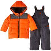 Carter's Baby Boy Heavyweight Jacket & Geo-Print Bib Snow Pants Snowsuit Set