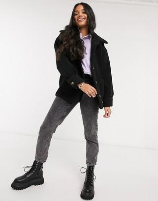 Pimkie teddy jacket in black