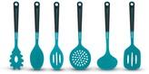 Art & Cook Blue Silicone Utensil 6-Piece Set