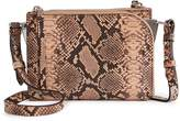 Reiss Arnott Mini Snake - Mini Cross-body Bag in Apricot