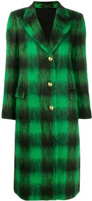 Tagliatore Long Checked Coat
