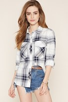 Forever 21 Snap-Buttoned Plaid Shirt