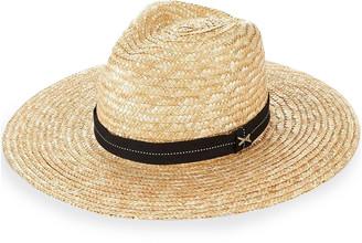 Vitamin A Provence Wide-Brim Straw Fedora Hat