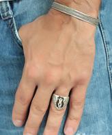 Nautilus Silvertone Angel Wing Ring