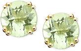 14k Gold Earrings, Green Quartz Stud (3-1/4 ct. t.w.)