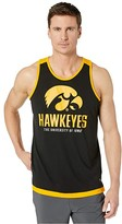 Champion College Iowa Hawkeyes Field Day Fashion Tank (True Black/Yellow Gold) Men's Sleeveless