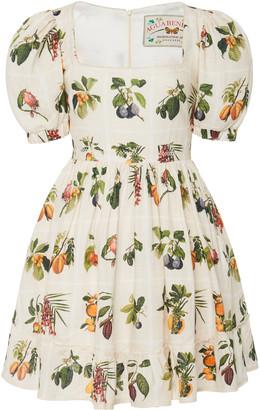 Agua Bendita Pomelo Frutas Printed Linen Mini Dress