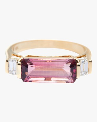 Yi Collection Pink Tourmaline And Diamond East West Ring