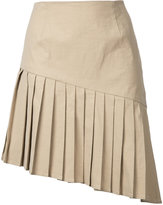 Sea pleated mini skirt - women - Cotton/Linen/Flax/Spandex/Elastane/Viscose - 4