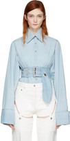Marques Almeida Blue Asymmetric Shirt