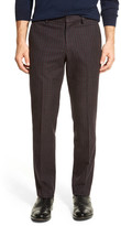 """Bonobos Foundation Navy & Red Checkered Trim Fit Double-Pleated Cotton Trouser - 30-32"""" Inseam"""