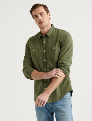 Lucky Brand Tencel Mason Workwear Long Sleeve Shirt