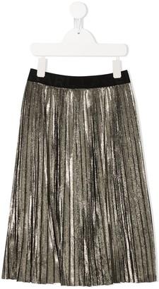 Karl Lagerfeld Paris Pleated Midi Skirt