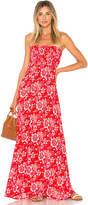 Tiare Hawaii Kalani Maxi Dress in Red.