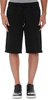 Alexander Wang Men's Cotton-Blend Oversized Shorts-BLACK