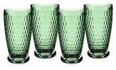 Villeroy & Boch Boston Green Crystal Highball Glasses/Set of 4
