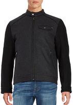Ungaro Wool-Blend Color Block Bomber Jacket