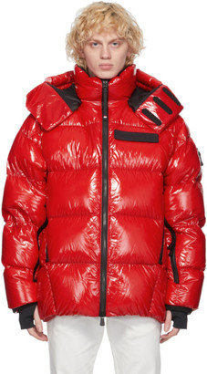 MONCLER GRENOBLE Red Down Verrand Puffer Jacket