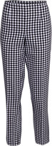 Michael Kors Gingham Cotton Side Zip Pant