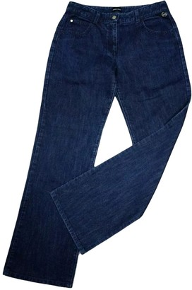 Giorgio Armani Navy Cotton Jeans for Women