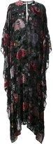 ADAM by Adam Lippes floral burnout velvet kaftan gown