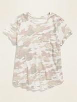 Old Navy EveryWear Printed Slub-Knit Tee for Women