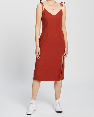 Abercrombie & Fitch Side Slit Midi Dress