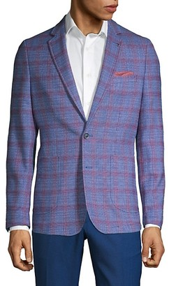 Extra Slim-Fit Windowpane Sportcoat