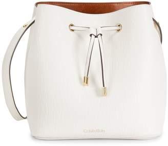 Calvin Klein Sonoma Bubble Faux Leather Bucket Bag