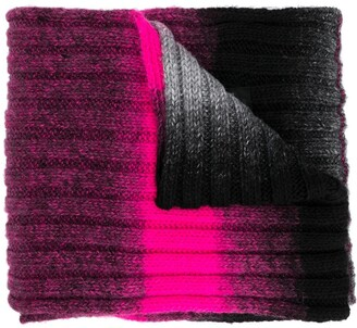 MSGM Logo-Patch Gradient Scarf