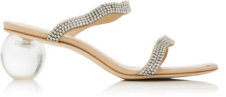 Cult Gaia Aubrey Embellished Leather And Acrylic Sandals