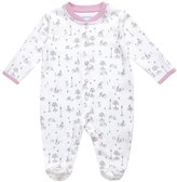 Jo-Jo JoJo Maman Bebe Jardin Footie (Baby)-Pink-0-3 Months