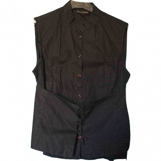 Tara Jarmon Black Cotton Top for Women