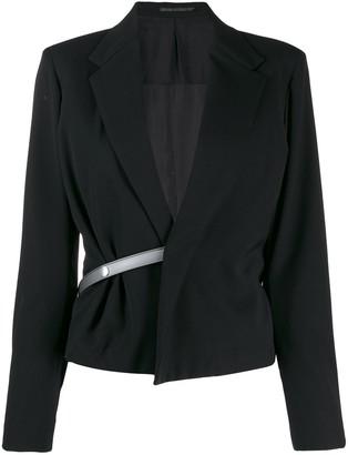 Yohji Yamamoto Pre-Owned half belt jacket
