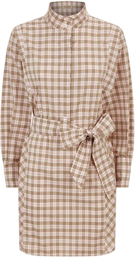 Burberry Check Belted Shirt Dress