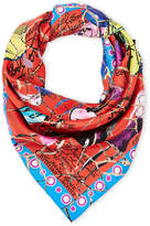 Christian Lacroix Shattered Fashion Print Silk Scarf