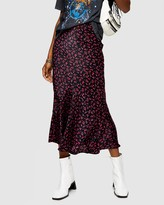 Topshop Ditsy Floral Flounce Midi Skirt