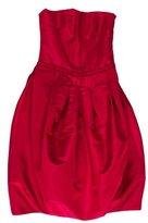 Carolina Herrera Silk Strapless Dress