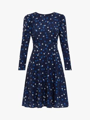 Gina Bacconi Arisia Floral Crepe Mini Dress, Navy