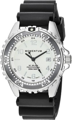 Momentum Womens Quartz Watch | M1 Splash by Momentum| Stainless Steel Watches for Women | Dive Watch with Japanese Movement & Analog Display | Water Resistant ladies watch with Date Lume / Grey Rubber