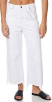 MinkPink Cedar Clean Denim Culottes White