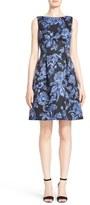 Lela Rose Women's Floral Print Full Skirt Satin Sheath Dress
