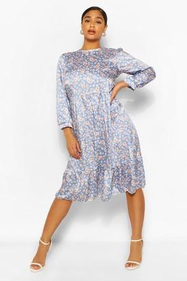 boohoo Petite Floral Midi Dress