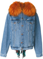 Forte Couture raccoon fur trim jacket