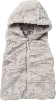 Widgeon Faux Fur Hooded Vest (Big Girls)